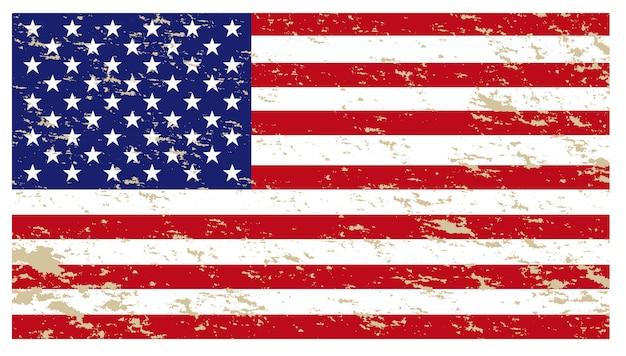 Bandeira americana isolar em branco