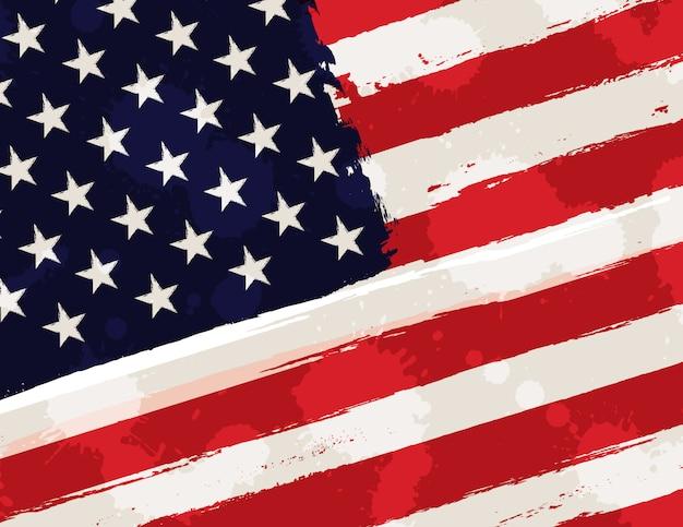 Bandeira americana no estilo grunge