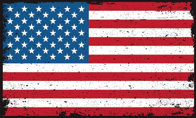 Bandeira americana suja velha