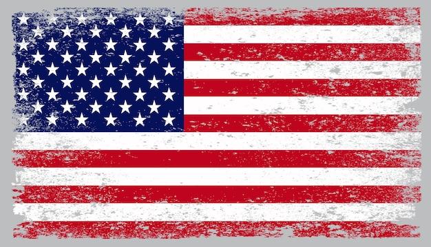 Bandeira americana vintage grunge
