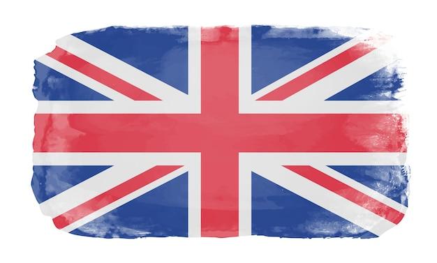 Bandeira aquarela do reino unido