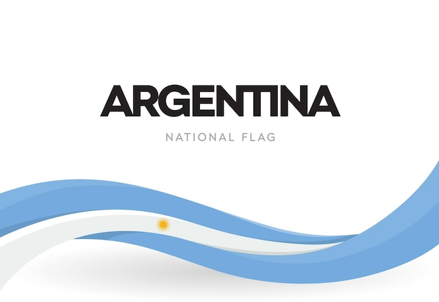Bandeira argentina agitando