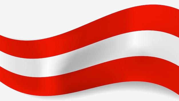 Bandeira austríaca ondulada de vetor abstrato