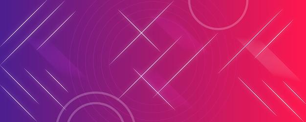 Bandeira azul gradiente rosa moderna