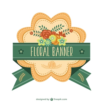 Bandeira bonita floral