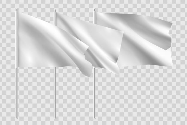 Bandeira branca do modelo de ondulação horizontal limpo.