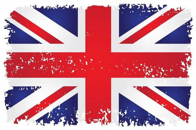 Bandeira britânica em estilo grunge