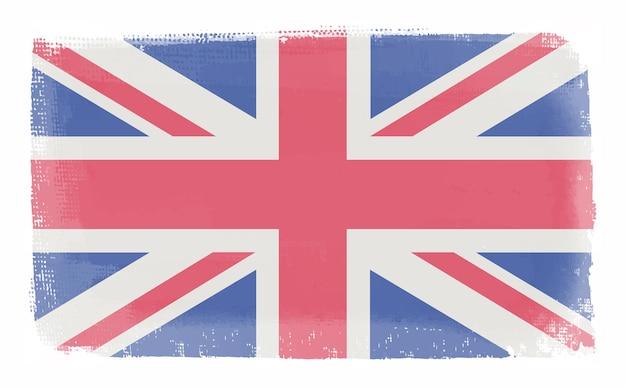 Bandeira britânica vintage grunge