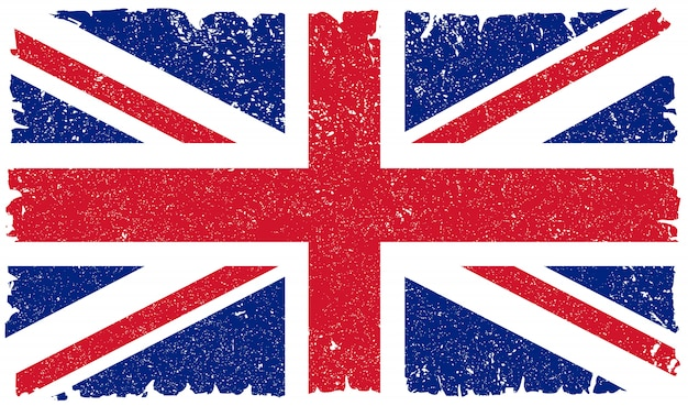 Bandeira britânica vintage velha