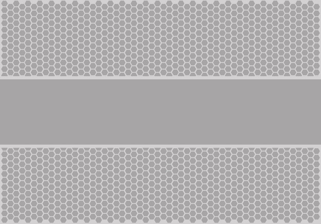 Bandeira cinzenta macia no vetor do fundo da malha do hexágono.