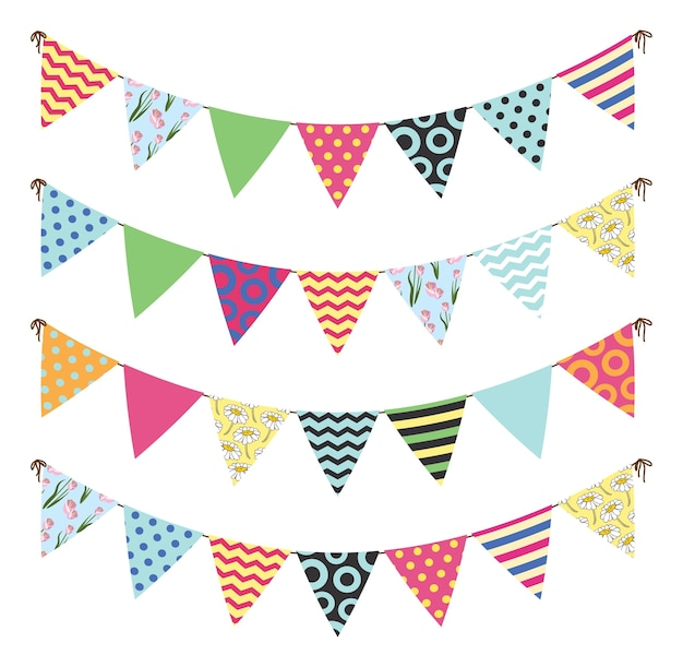 Bandeira colorida bunting