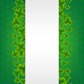 Bandeira com fundo verde dos trevos.