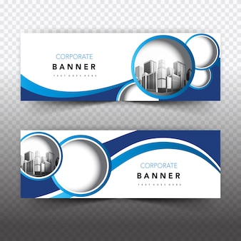 Bandeira comercial azul e branca