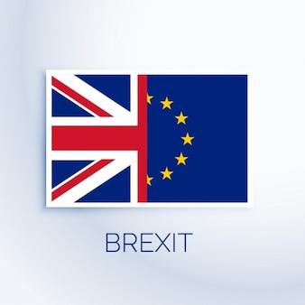 Bandeira conceito brexit
