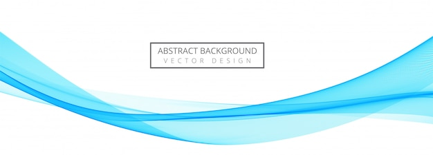 Bandeira criativa onda elegante azul