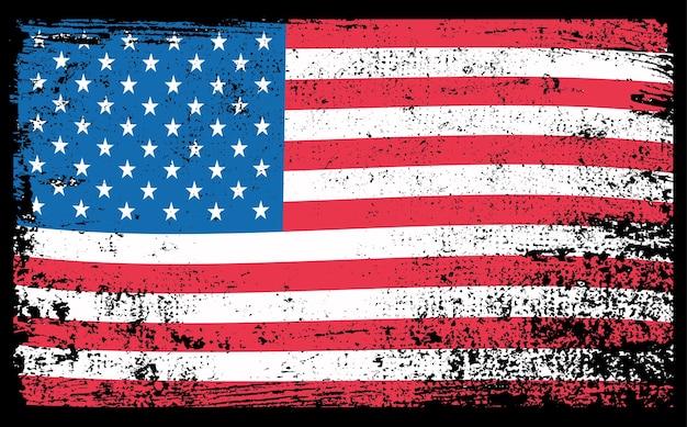 Bandeira da américa com textura grunge