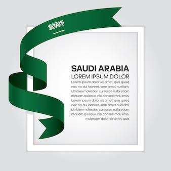Bandeira da arábia saudita, ilustração vetorial em um fundo branco.