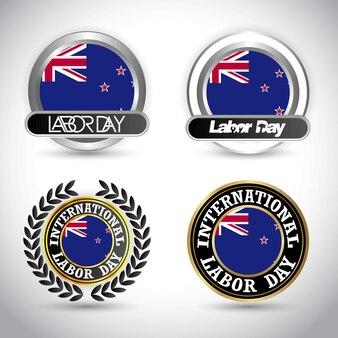 Bandeira da austrália com vetor de design dia do trabalho