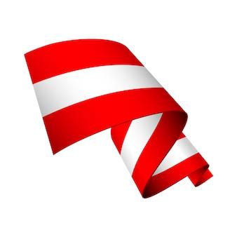 Bandeira da áustria ondulada isolada