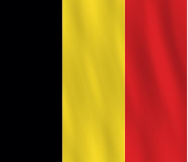 Bandeira da bélgica com ondulação efeito, proporção oficial.