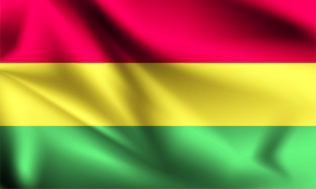 Bandeira da bolívia ao vento.