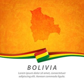 Bandeira da bolívia com mapa central