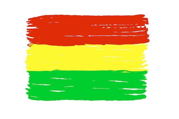 Bandeira da bolívia isolada em um fundo branco