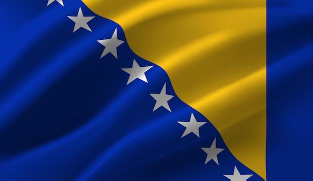 Bandeira da bósnia e herzegovina. bandeira da bósnia e herzegovina