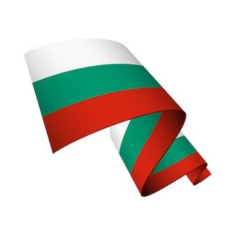 Bandeira da bulgária ondulada isolada