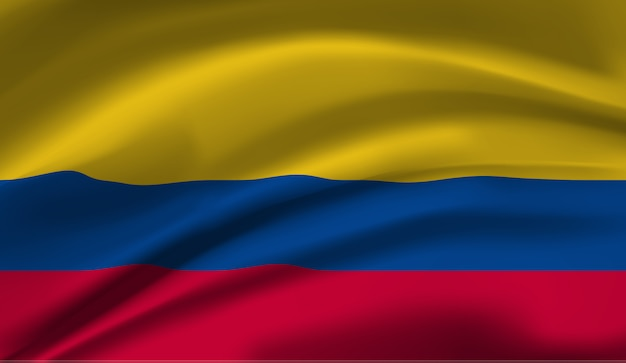 Bandeira da colômbia. bandeira da colômbia