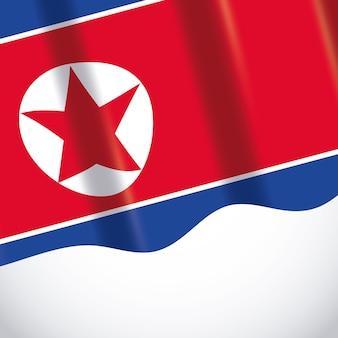 Bandeira da coréia do norte