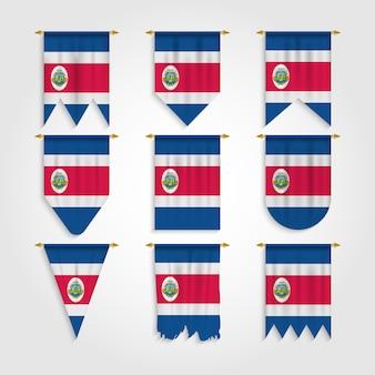 Bandeira da costa rica em várias formas