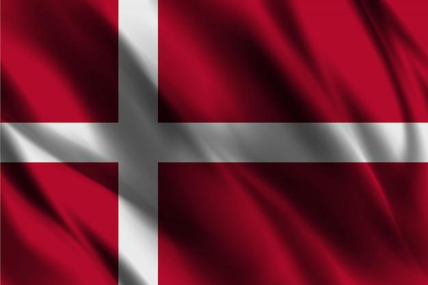 Bandeira da dinamarca acenando abstrato