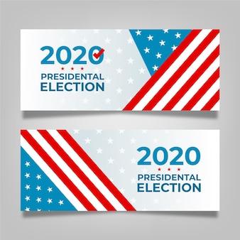 Bandeira da eleição presidencial dos eua em 2020 Vetor Premium