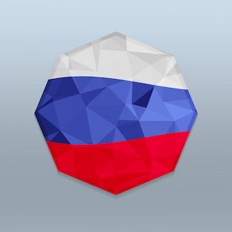 Bandeira da eslováquia com vetor de design octagone