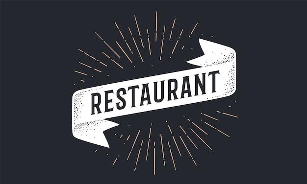 Bandeira da faixa restaurante