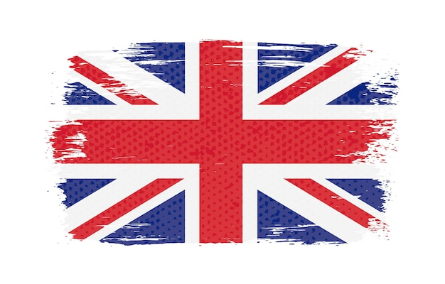 Bandeira da grã-bretanha grunge