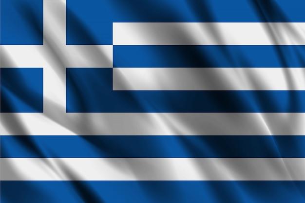 Bandeira da grécia acenando abstrato