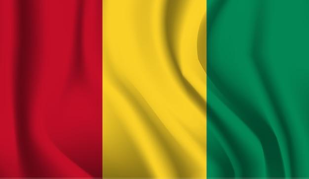 Bandeira da guiné. bandeira da guiné com fundo abstrato