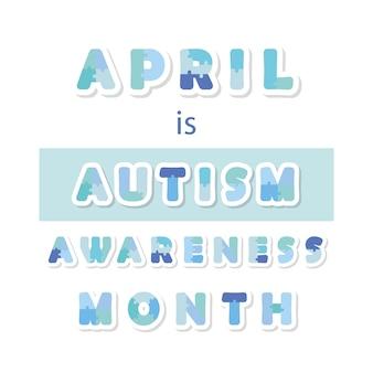 Bandeira da informação do mês da conscientização do autismo.