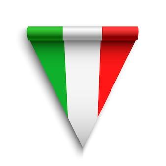Bandeira da itália. fita. ilustração.
