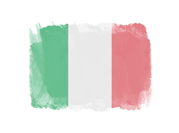 Bandeira da itália grunge