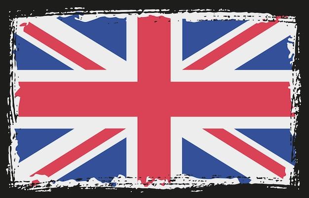 Bandeira da kindom unida em estilo grunge