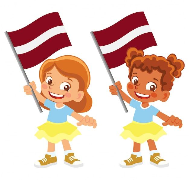 Bandeira da letônia em conjunto