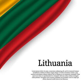 Bandeira da lituânia em branco