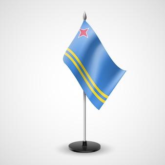 Bandeira da mesa de aruba