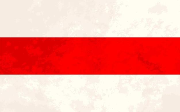 Bandeira da nova bielorrússia de proporções reais com textura grunge