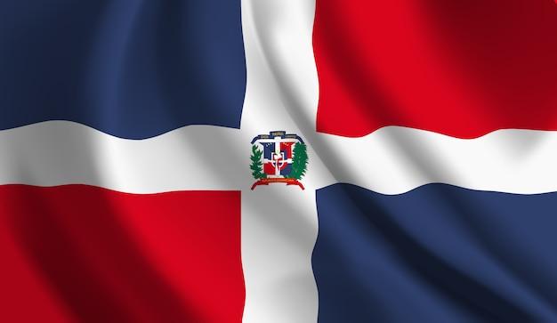 Bandeira da república dominicana. bandeira da república dominicana