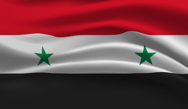 Bandeira da síria. bandeira da síria com fundo abstrato