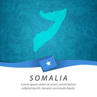 Bandeira da somália com mapa central